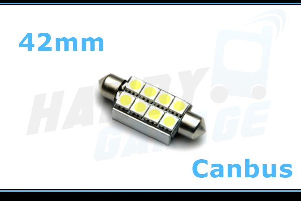 1x ROT 42mm 8SMD C5W SMD LED Soffitte Hauptbeleuchtung Handschuhfach Canbus