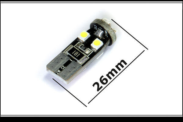 8 SMD LED W5W Canbus Spot Axial/Radial